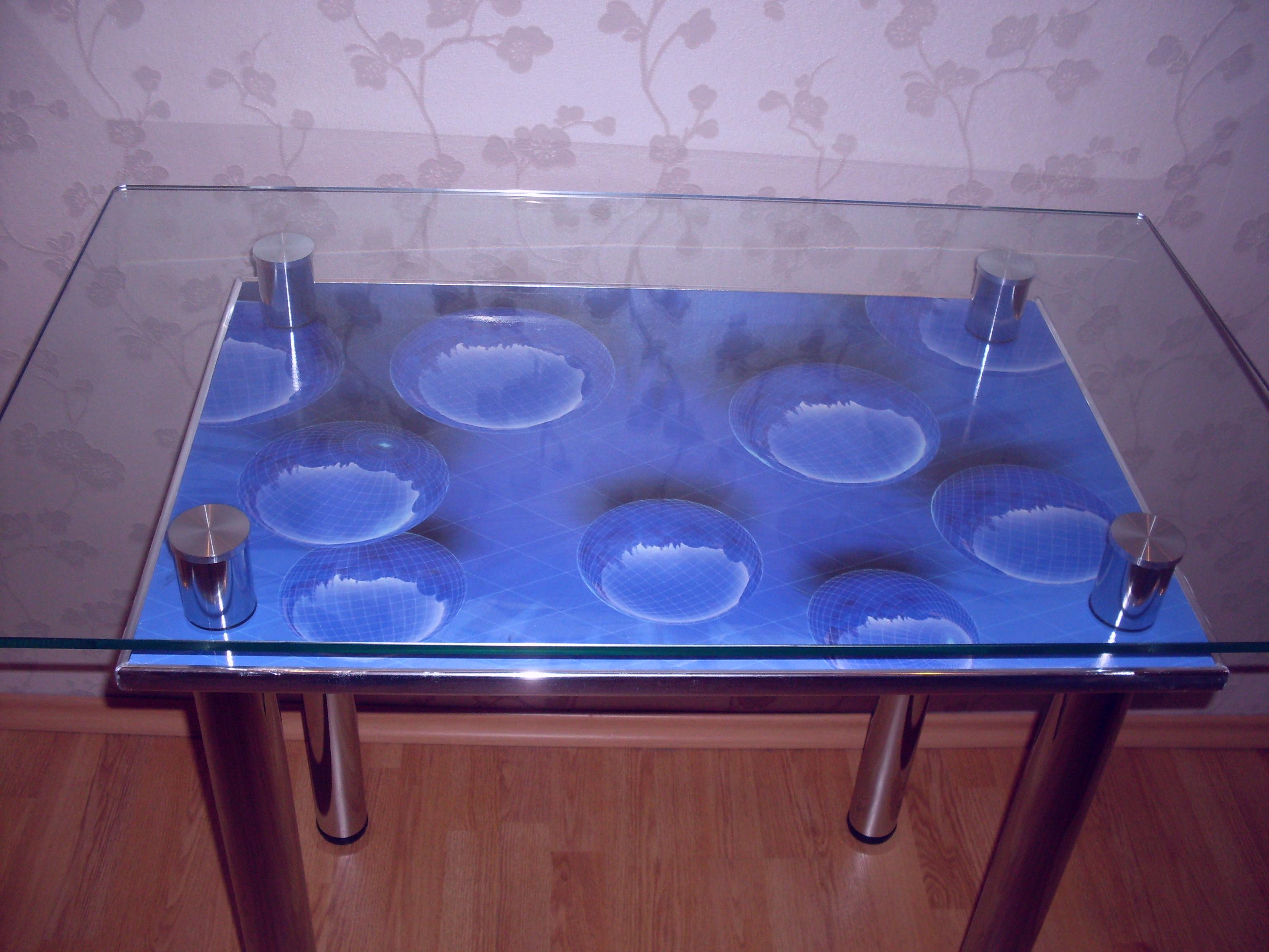 Стеклянный стол своими руками фото